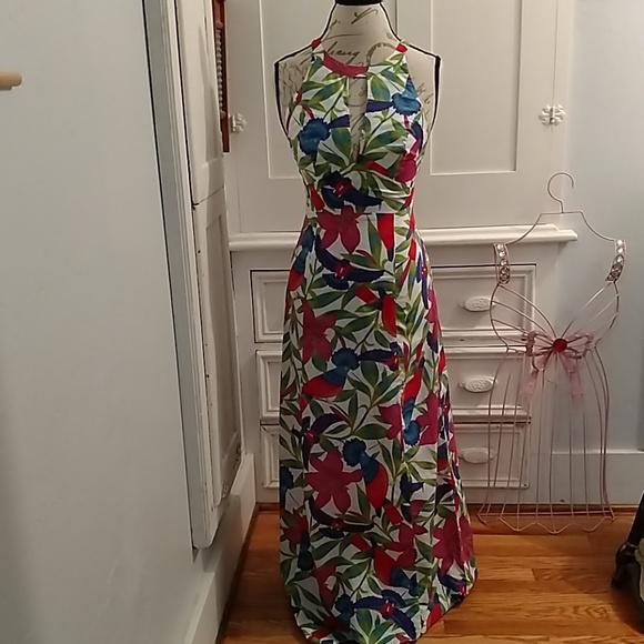 Warehouse Dresses & Skirts - Warehouse cotton print halter dress Sz 6